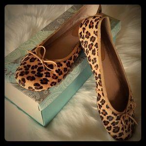 BP leopard leather flats